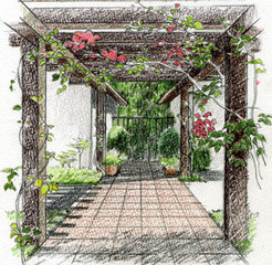 ガーデンデザイナーコース(基礎知識からガーデンスケッチ習得)