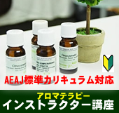 AEAJ標準カリキュラム対応アロマテラピーインストラクター講座(日本アロマ環境協会)