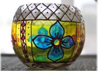 【プチ学】ガラス絵でカラフルなキャンドルホルダー/1回4320円