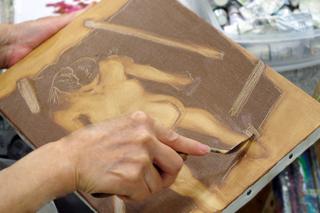 3月5日(日)具象画による抽象的表現の手法 [女性ヌード]