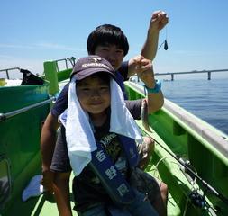 親子釣り体験教室 船釣りのシロギス