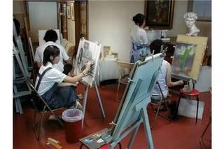 全て個別のレッスンで習うデッサン・絵画・音楽の教室です。