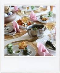 試食は優雅なお料理教室とお菓子教室