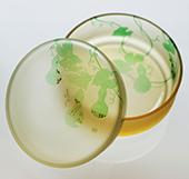 2時間で美しい和柄のガラス小鉢を作りましょう♪当日お持ち帰り♪10時〜21時♪体験随時募集中♪