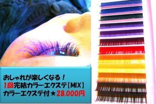 【プチ学】カラーエクステ(MIX)コース/1回28000円/初級コース終了の方18000円/友割