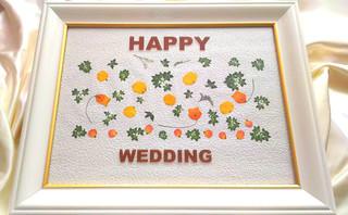 結婚祝いのプレゼントや自分の結婚式に!!当日お持ち帰りできる押し花ウェルカムボード1DAYレッスン