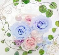 【体験レッスン】花の香りかおる・・・プリザーブドフラワーレッスンの体験★【90分 4,500円】