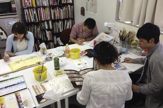 週1ペースで習う年48回コース 毎週絵を描く習慣を付けましょう