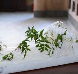 和紙などの素材を取り入れた和モダンなフラワーアレンジレッスン 日本の素材と花