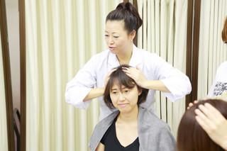 1日講座 ヘッドマッサージ認定[1日コース]資格講習☆頭皮を気持ちよくもみほぐすレッスン