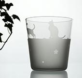 ネコ大好き♪2時間で可愛いオリジナルグラスを作ろう♪当日お持帰り♪市ヶ谷駅すぐ♪体験随時募集中♪