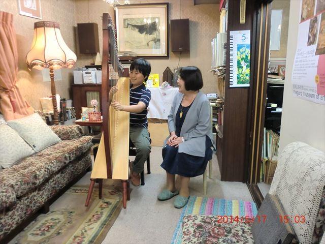 世田谷の隠れ家 ハープ奏者 涌井純子音楽教室